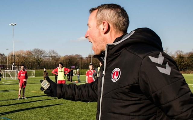 "A year ago, Lee Bowyer was perfectly happy running a carp fishing lake in eastern France, putting 18 years of professional football behind him. Thoughts of entering the managerial world had barely entered his head, which is why he as much as anyone was surprised to find himself facing the media on Friday having been appointed caretaker at Charlton until the end of the season. He is trying to pick up the pieces after Karl Robinson – the man who persuaded him to come back to his first club as a part-time coach– resigned to take over at Oxford, a decision which shows just how far Charlton have fallen in recent years. Bowyer is a managerial novice and, having after walking away from the carp business some might say he is – excuse the pun – a fish out of water. But Bowyer is adamant that despite his interest in management being relatively recent his knowledge of the game will stand him in good stead. ""It's crazy the way I'm sitting here now, I literally came in at the end of last season two days a week just to help out the midfielders,"" he says. ""I had no intention of becoming a manager. I had no intention of being a coach. When I was finished playing football I had five years out, and I enjoyed that time. Then I went with Harry [Kewell] to Watford just for six weeks to help him out with his under-21 side, and that gave me the taste of that winning feeling and being in and around football again. ""I know what it's about. I've been in dressing rooms for 20 years, and being here with Karl I've learnt a lot. I don't need anybody to tell me. ""As long as I'm here I'll continue to keep passing on my knowledge and try to direct the team, not just from me as a player but from players that I played with or against. So if there's something that I couldn't cope with as a player which one of our midfielders can bring into their game that's going to make them a better player, then I'm going to pass on that knowledge."" Karl Robinson left the south London club for Oxford, leaving Bowyer to takeover Credit: John Nguyen If Bowyer can use that knowledge wisely then Charlton might just mount the unlikeliest of promotion pushes, one that takes place against a backdrop of chronic instability and fan unrest. Bowyer is the ninth manager appointed since Roland Duchatalet bought the club in 2014, with relegation to League One and a boycott of the Valley by the club's supporters meaning the 41-year-old is taking over at a hugely uncertain time. There is speculation that Duchatelet's tenure could soon come to an end, with an Australian consortium headed by businessman Andrew Muir linked with a takeover. That uncertainty – which Bowyer says is no excuse for the club's form – contributed to Robinson's departure for a team seven points and as many places below Charlton in the table. ""Of course I'm surprised, but I can't control what Karl does in his career, these things happen,"" said Bowyer, whose side host Plymouth on Saturday, when asked whether he was shocked at Robinson's decision. ""It's a challenge, but my whole career I've loved challenges, and I love to win. So in the time I'm here I'll be putting all my concentration and knowledge into doing so. I'm excited for the challenge."" ""I am looking to win tomorrow. I'll be setting out that team to win, and I guarantee you everyone on that pitch whether they start or come on will be giving 100 per cent because I won't take nothing less than that."" And Bowyer is not thinking long-term at a club where short-termism has taken priority in recent years. ""Ask me at the end of the season,"" says Bowyer when asked if he wants the job full-time. ""I know I can do it, it's just whether I want to do it."""