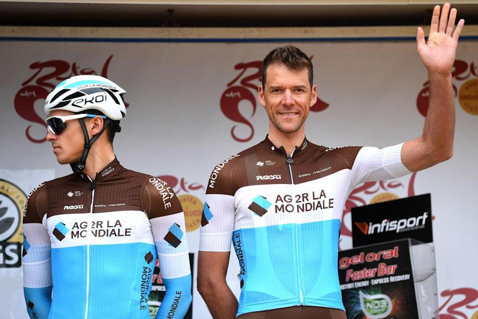GRAZALEMA SPAIN  FEBRUARY 19 Start  Lawrence Naesen of Belgium and Team Ag2R La Mondiale  Stijn Vandenbergh of Belgium and Team Ag2R La Mondiale  Team Presentation  during the 66th Vuelta a Andaluca  Ruta del Sol 2020 Stage 1 a 1738km stage from Alhaurn de la Torre to Grazalema 911m  VCANDALUCIA  UCIProSeries  on February 19 2020 in Grazalema Spain Photo by David RamosGetty Images