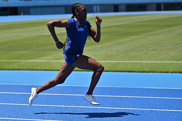 Perri Shakes-Drayton believes mixed relays could shake up the sport (AFP Photo/Charly TRIBALLEAU)