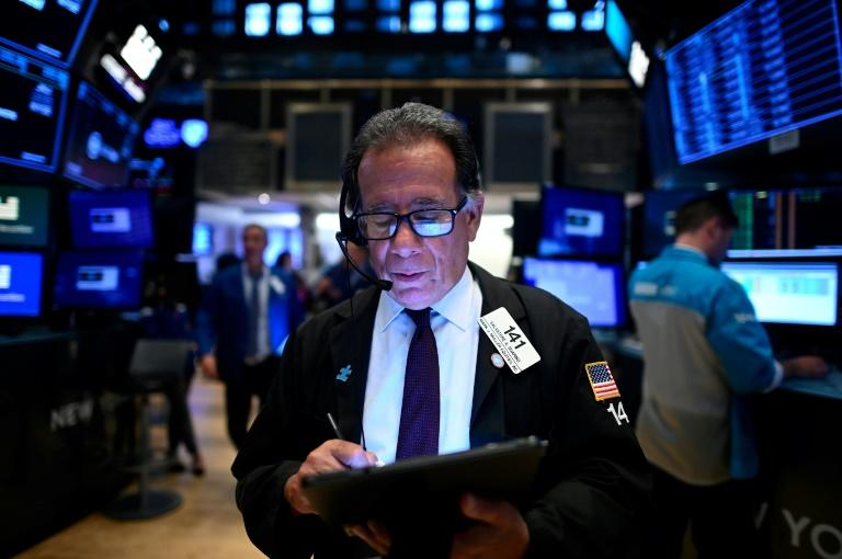 Traders chalked stock market gains up to strong US jobs data (AFP Photo/Johannes EISELE)