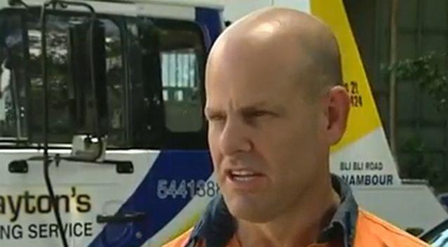 Mike Clayton filmed the exchange. Photo: 7 News