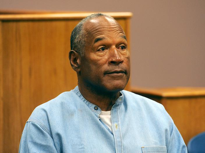 OJ Simpson at a parole hearing on 20 July 2017 in Lovelock, Nevada (Jason Bean-Pool/Getty Images)