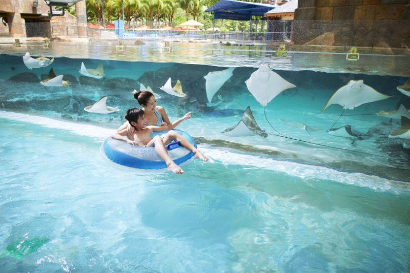 Fun in sun: Meander down the waters of Adventure River, a free-floating tube ride at Adventure Cove Waterpark