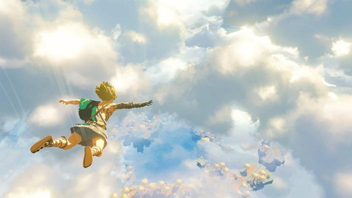 A scene from the sequel to 'The Legend of Zelda: Breath of the Wild.'