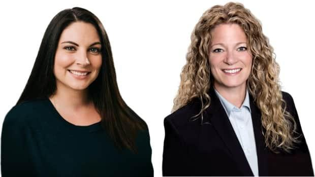 Fredericton candidates Liberal Jenica Atwin and Conservative Andrea Johnson have been running neck-and-neck most of the night. (Elections Canada - image credit)