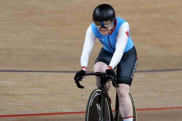 Canada's Kate O'Brien smiles after racing to silver at the Tokyo Paralympics. (Kiyoshi Ota/Getty Images - image credit)