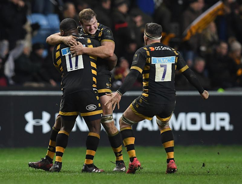 Rugby Union - Last-gasp Mullan try sees Wasps edge Saints