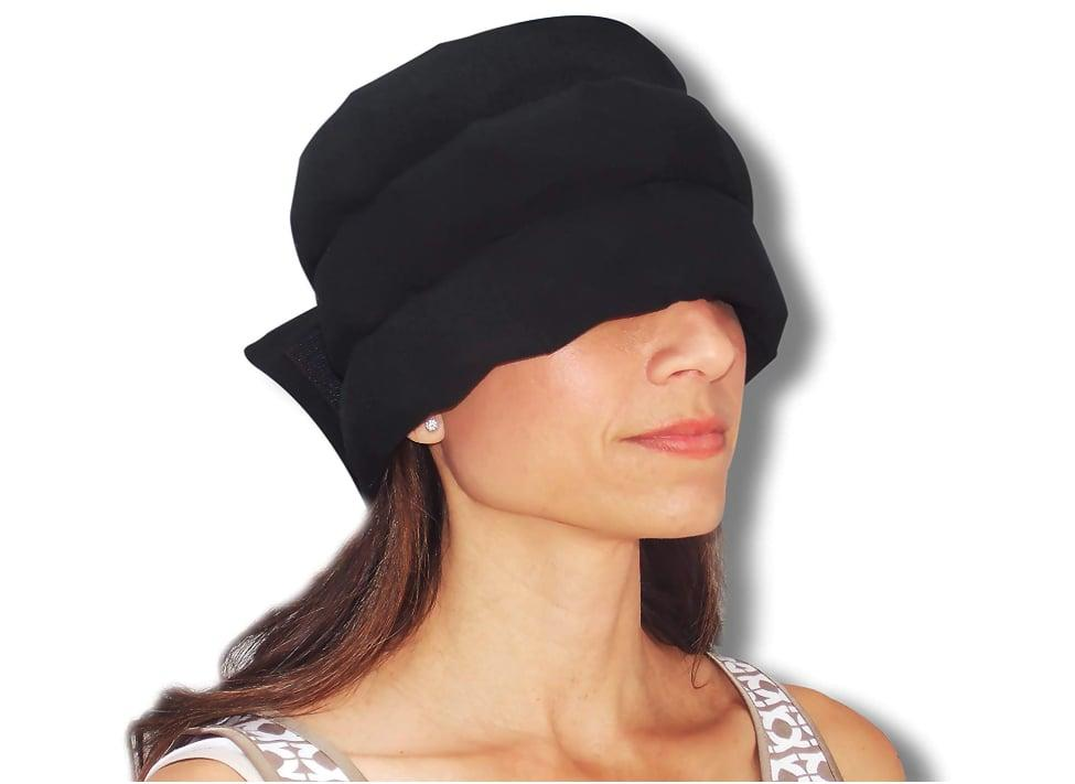 """<p>Designed to wrap around your head or neck, the <a href=""""https://www.popsugar.com/buy/Headache-Hat-543082?p_name=Headache%20Hat&retailer=amazon.com&pid=543082&price=40&evar1=fit%3Aus&evar9=47138292&evar98=https%3A%2F%2Fwww.popsugar.com%2Fphoto-gallery%2F47138292%2Fimage%2F47138303%2FHeadache-Hat&list1=headaches%2Chealthy%20living&prop13=api&pdata=1"""" rel=""""nofollow"""" data-shoppable-link=""""1"""" target=""""_blank"""" class=""""ga-track"""" data-ga-category=""""Related"""" data-ga-label=""""https://www.amazon.com/Headache-Hat-Original-Wearable-Headaches/dp/B00FGWLDR6/ref=sr_1_1_sspa?keywords=headache+ice+pack&amp;qid=1579729388&amp;sr=8-1-spons&amp;psc=1&amp;smid=ASEVS99O6FS73&amp;spLa=ZW5jcnlwdGVkUXVhbGlmaWVyPUFYSlVHUThJWjQ5UFomZW5jcnlwdGVkSWQ9QTAyNjEwNDkxR1dYVlA2WUNYSVRIJmVuY3J5cHRlZEFkSWQ9QTA0MTE4MDc1OTk4VUlERUYzTUMmd2lkZ2V0TmFtZT1zcF9hdGYmYWN0aW9uPWNsaWNrUmVkaXJlY3QmZG9Ob3RMb2dDbGljaz10cnVl"""" data-ga-action=""""In-Line Links"""">Headache Hat</a> ($40) stays put where you need relief most. Its lightweight band is made from comfortable cotton, spandex, and microfleece, so it's soft on your skin and protects from leakage. Best of all, its flexible design is perfect for packing, so you're prepared for that on-the-go ache.</p>"""