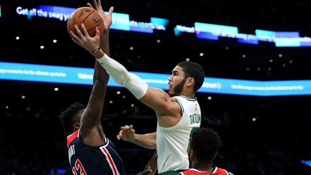 Celtics top Wizards 140-133 for 9th straight win