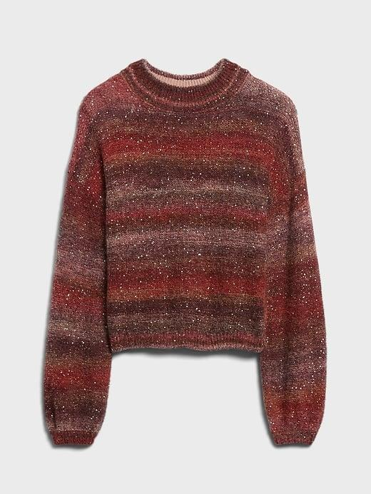 <p>This <span>Banana Republic Ombré Sequin Cropped Sweater</span> ($119) is both festive and very stylish!</p>