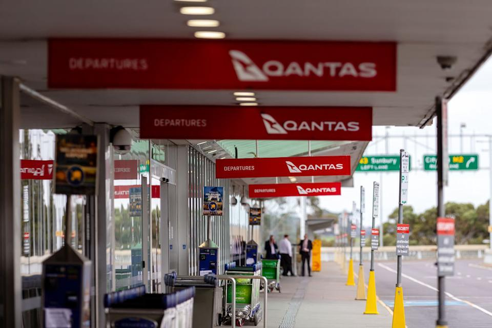 The Qantas departures terminal at Melbourne International Airport. Greece wants Australia to join its 'travel bubble'.
