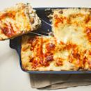 <p>This creamy white chicken lasagna features no-boil noodles and precooked chicken to keep things simple and streamlined. Presliced mushrooms, frozen spinach and preshredded cheese also help shorten the prep time. Make this easy lasagna recipe anytime you're short on time and have leftover chicken on hand.</p>