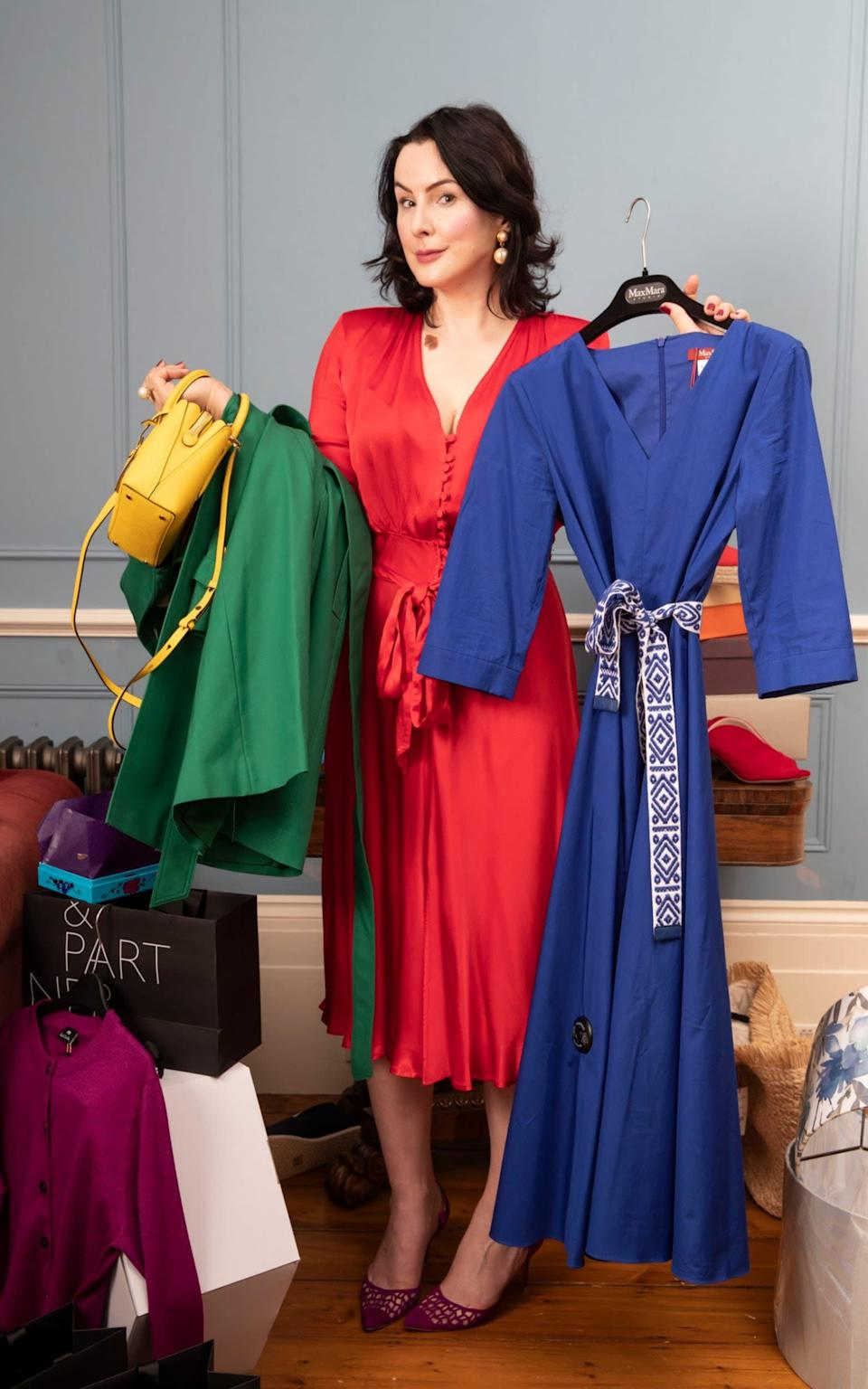 Hannah Betts, with her buys from a virtual personal shopping appointment