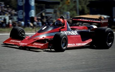 "Niki Lauda, Brabham-Alfa Romeo BT46B, Grand Prix of Sweden, Anderstorp Raceway, 17 June 1978. Niki Lauda on his way to victory driving the Gordon Murray deigned ""fan car"", which was subsequently banned. (Photo by Bernard Cahier/Getty Images) - Credit: Bernard Cahier/Hulton Archive"