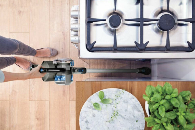 Easy to take anywhere — even outside to clean your car — the Hoover BH52230 Cruise Ultra Light Cordless Floor Vacuum is a battery-operated appliance that weighs less than five pounds. (Photo: eBay)