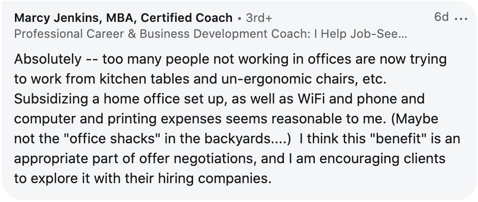 linkedin comment