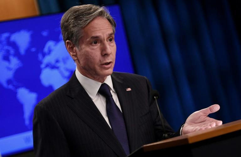 Secretary of State Antony Blinken announces a trip on the Afghanistan crisis (AFP/Olivier DOULIERY)