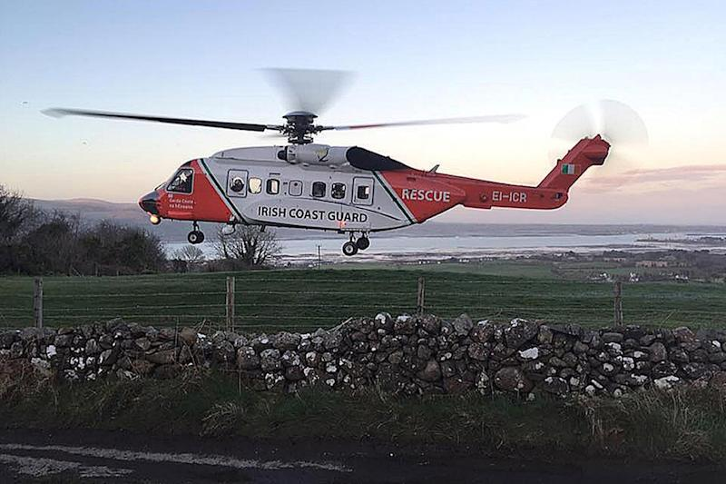 Missing helicopter: The aircraft went missing off the coast of Ireland's Co Mayo (Irish Coast Guard)