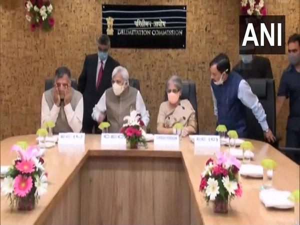A new office of the Delimitation Commission was opened in New Delhi today. [Photo/ANI]