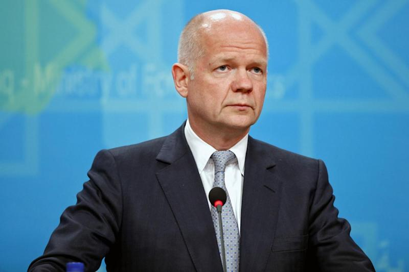 "Criticism: William Hague told the Prime Minister to stop ""dithering"" over a third runway at Heathrow. (EPA/ALI ABBAS)"
