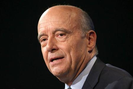 French presidential hopeful Alain Juppe attends a political rally in Paris