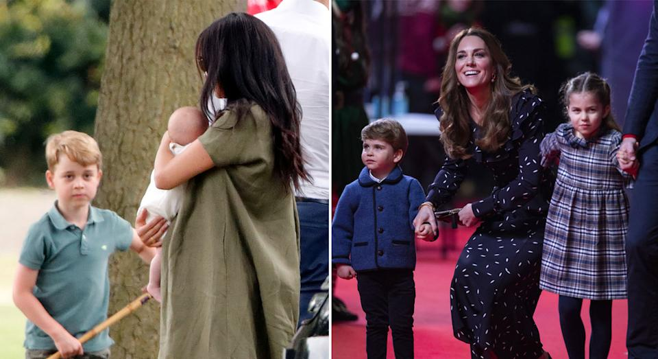 The Cambridge children and the Sussex children could unite the brothers again, an author has said. (Getty Images)