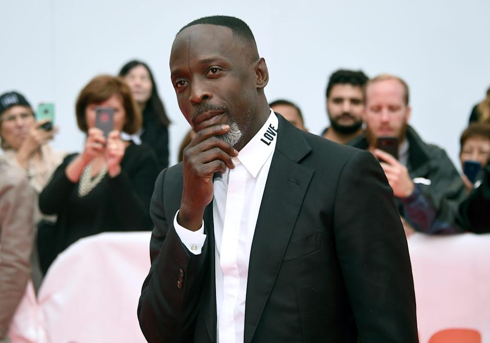 """In this Sunday, Sept. 9, 2018, file photo, Michael K. Williams attends a gala for """"The Public"""" on Day 4 of the Toronto International Film Festival at Roy Thomson Hall in Toronto."""