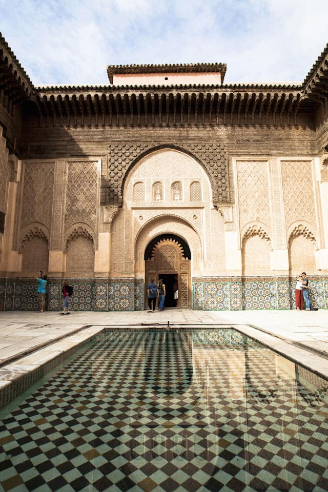 <p>Located at the foot of the Atlas Mountains, Marrakesh has changed little since the Middle Ages. You could spend days here wandering around maze-like alleyways discovering the city's colorful souks, palaces and gardens.</p>