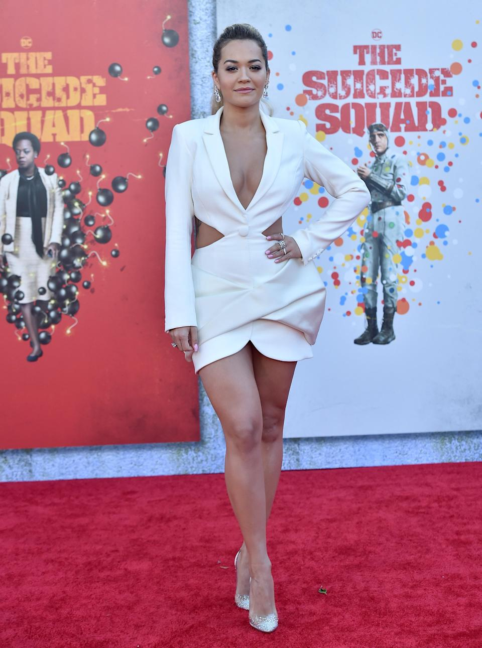 """Rita Ora attends the premiere of """"The Suicide Squad"""" at The Landmark Westwood in Los Angeles, CA. - Credit: AXELLE/BAUER-GRIFFIN / MEGA"""
