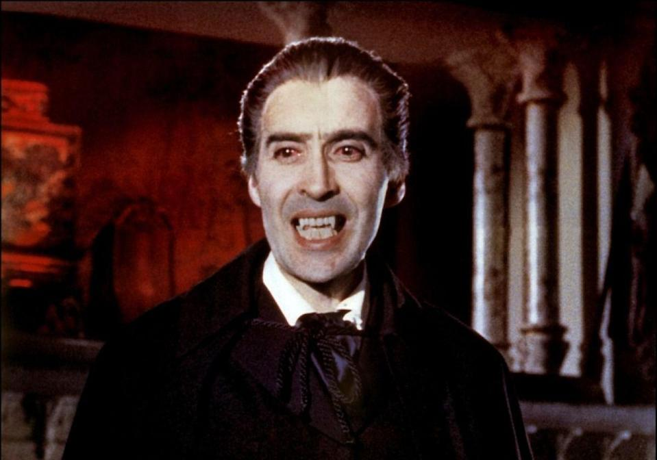 """<p><strong><em>Dracula: Prince of Darkness</em></strong> </p><p>The newly resurrected Prince of Darkness (Christopher Lee) preys on the flesh of those who enter the walls of his gothic fortress.</p><p><a class=""""link rapid-noclick-resp"""" href=""""https://www.amazon.com/Dracula-Prince-Darkness-Christopher-Lee/dp/6305095469?tag=syn-yahoo-20&ascsubtag=%5Bartid%7C10055.g.29120903%5Bsrc%7Cyahoo-us"""" rel=""""nofollow noopener"""" target=""""_blank"""" data-ylk=""""slk:WATCH NOW"""">WATCH NOW</a></p>"""
