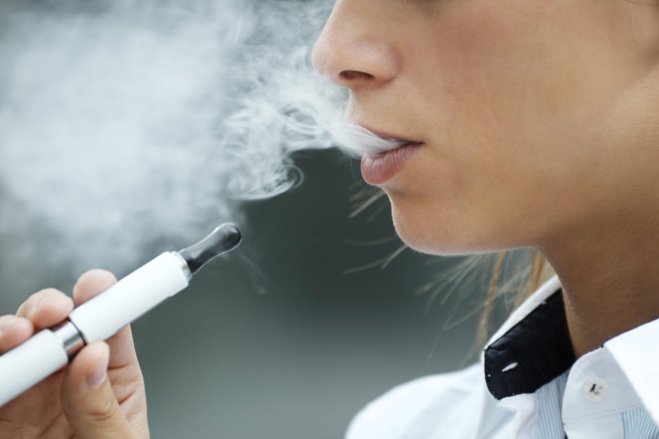 "Eight teenagers in Wisconsin were reportedly hospitalized for ""severe lung damage"" due to vaping. Doctors weigh in on the potential longterm health effects of e-cigarettes. (Photo: Getty Images)"