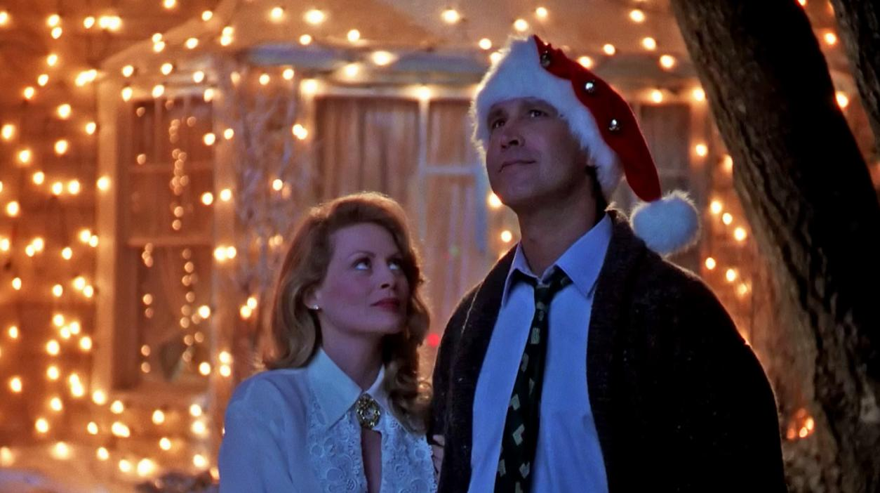 "'Christmas Vacation' – It wouldn't be the holidays without a visit from the hapless, accident-prone, but well meaning Griswold family. Parking their trusty station wagon in the garage for a change, the Griswolds get ready for a Christmas vacation at home and prepare for the arrival of their colourful in-laws. Familiar family drama and near infinite TV reruns have helped make ""Christmas Vacation"" a holiday standard for many. You can catch what the Clark, Ellen, and the rest of the Griswold family are up to these days in a new series of ""Christmas Vacation"" themed commercials for Old Navy."