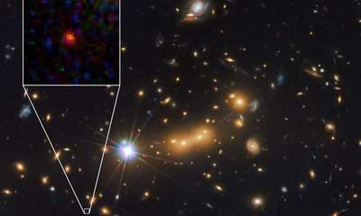 Hubble Space Telescope Snaps Distant Galaxy