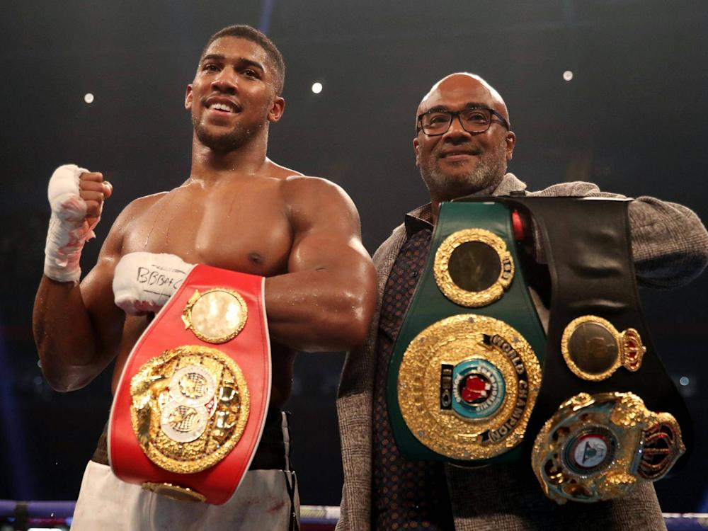 Anthony Joshua looks to be on collision course with Deontay Wilder: Getty