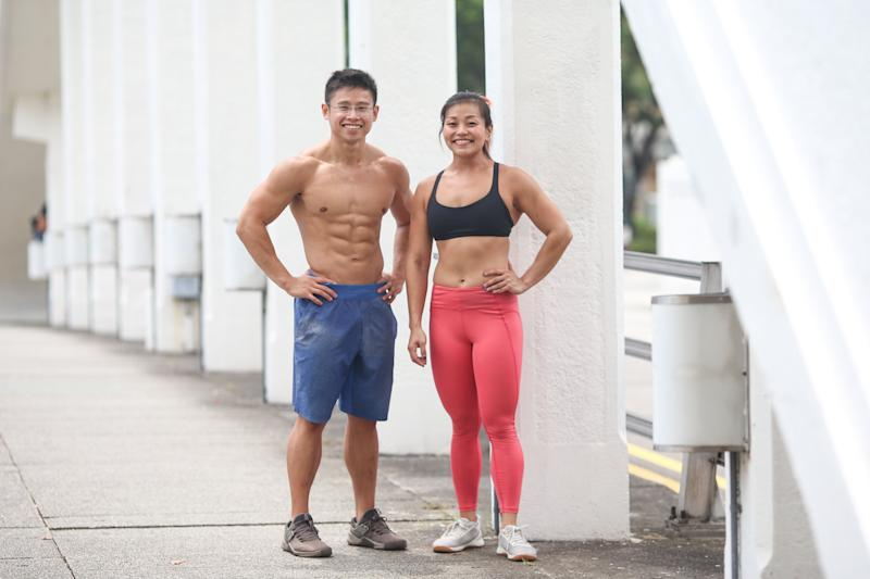 National CrossFit champions Ian Wee and Landy Eng. (PHOTO: Cheryl Tay)