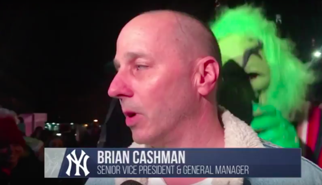 Brian Cashman was visited by the Grinch while delivering unfortunate news to Yankees fans. (MLB.com Screenshot)