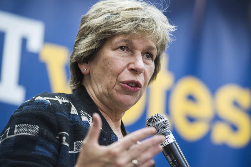 Randi Weingarten, president of the American Federation of Teachers, conducts a town hall at the AFT in Washington, D.C., on Thursday, September 19, 2019. (Photo: Tom Williams/CQ-Roll Call, Inc via Getty Images)