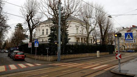 The Iranian ambassador's residence is seen in Vienna, Austria March 12, 2018.   REUTERS/Leonhard Foeger