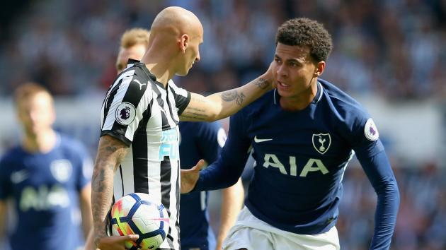 'That is just pathetic' - Shelvey blasted by Newcastle legend Shearer over Alli stamp