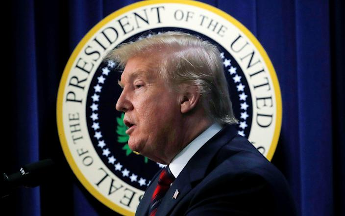 Donald Trump, the US president, took office after winning the 2016 presidential election, beating the Democratic nominee Hillary Clinton - REUTERS
