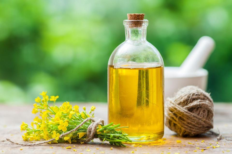 """<p>Canola oil is made from rapeseed and has a high smoke point, so it can be used in a variety of ways in the kitchen which is why it's often a staple in most homes. This budget-friendly choice is <strong>low in saturated fat and relatively high in monounsaturated fa</strong><strong>t</strong>. The only issue is that canola oil tends to be highly processed, so looking for cold-pressed and a good quality brand is key. </p><p><strong>Best For:</strong> Sautéing, frying, baking</p><p><strong>Smoke Point: </strong>400°F</p><p><strong>Nutritionist Pick:</strong> <a href=""""https://go.redirectingat.com?id=74968X1596630&url=https%3A%2F%2Fwww.instacart.com%2Fsafeway%2Fproducts%2F16290507-spectrum-organic-canola-oil-16-fl-oz&sref=https%3A%2F%2Fwww.goodhousekeeping.com%2Fhealth%2Fdiet-nutrition%2Fg32108013%2Fhealthiest-cooking-oils%2F"""" rel=""""nofollow noopener"""" target=""""_blank"""" data-ylk=""""slk:Spectrum Organic Canola Oil"""" class=""""link rapid-noclick-resp"""">Spectrum Organic Canola Oil</a></p>"""