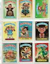"""<p>Ahhhh, the '80s. The surreal <a href=""""https://www.ebay.com/itm/A-LOT-OF-OVER-500-TOPPS-GARBAGE-PAIL-KIDS-TRADING-CARDS-IN-EX-OR-BETTER-COND/362055262039?hash=item544c2cdf57:g:8tQAAOSwDrlZfkDU"""" rel=""""nofollow noopener"""" target=""""_blank"""" data-ylk=""""slk:Garbage Pail Kids collectible cards"""" class=""""link rapid-noclick-resp"""">Garbage Pail Kids collectible cards</a> have found their ideal home on the equally surreal internet, where a card like <a href=""""https://www.ebay.com/itm/Garbage-Pail-Kids-Adam-Bomb-And-Friends-Flashback-Return-Sketch-Colin-Walton/282224850186?hash=item41b5e9750a:g:imUAAOSwmLlYBkyy:rk:1:pf:0"""" rel=""""nofollow noopener"""" target=""""_blank"""" data-ylk=""""slk:&quot;Adam Bomb&quot;"""" class=""""link rapid-noclick-resp"""">""""Adam Bomb""""</a> can collect around $3,000. Bonus dollars if they are in their original packaging. </p>"""