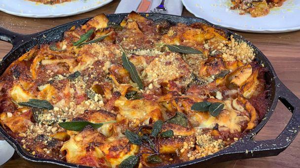 PHOTO: Jamie Oliver's scruffy eggplant lasagne. (ABC News)