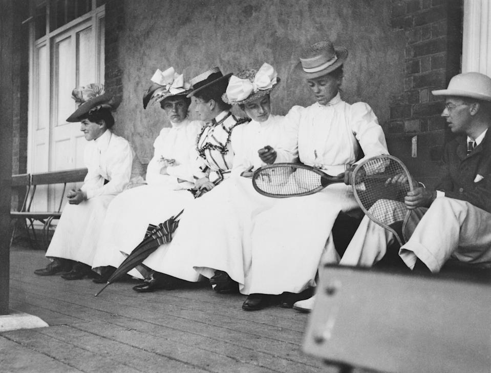 Players in the Pavilion in University Park, Oxford, circa 1900. (Photo: Past Pix/SSPL/Getty Images)