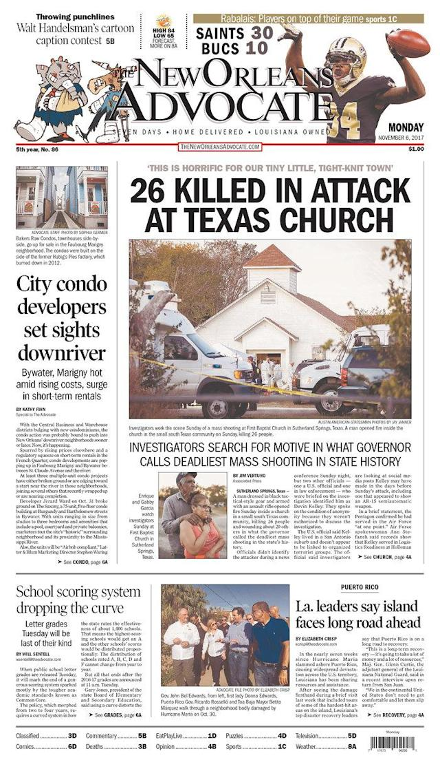 <p>THE NEW ORLEANS ADVOCATE<br> Published in New Orleans, La. USA. (newseum.org) </p>