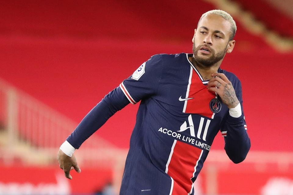 Neymar and PSG have looked uncharacteristically vulnerable this COVID-cursed season, as have a lot of European powers. (Photo by VALERY HACHE/AFP via Getty Images)
