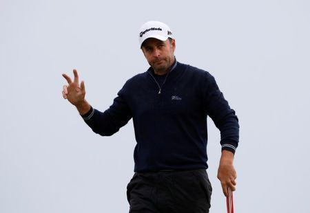 Golf - The 146th Open Championship - Royal Birkdale - Southport, Britain - July 21, 2017 England's Richard Bland acknowledges the crowd on the ninth green during the second round REUTERS/Phil Noble