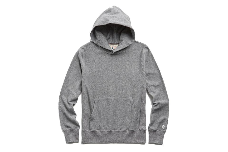 """<p>Todd Snyder's Champion sweats have the stamina to take you from a coffee run to the gym to casual Friday at the office (just put it under that navy suit we just told you about.)</p> <p><em>Todd Snyder + Champion lightweight popover hoodie sweatshirt</em></p> $138, Todd Snyder. <a href=""""https://www.toddsnyder.com/collections/todd-snyder-champion-sweatshirts/products/popover-hoodie-sweatshirt-salt-and-pepper-1"""" rel=""""nofollow noopener"""" target=""""_blank"""" data-ylk=""""slk:Get it now!"""" class=""""link rapid-noclick-resp"""">Get it now!</a>"""