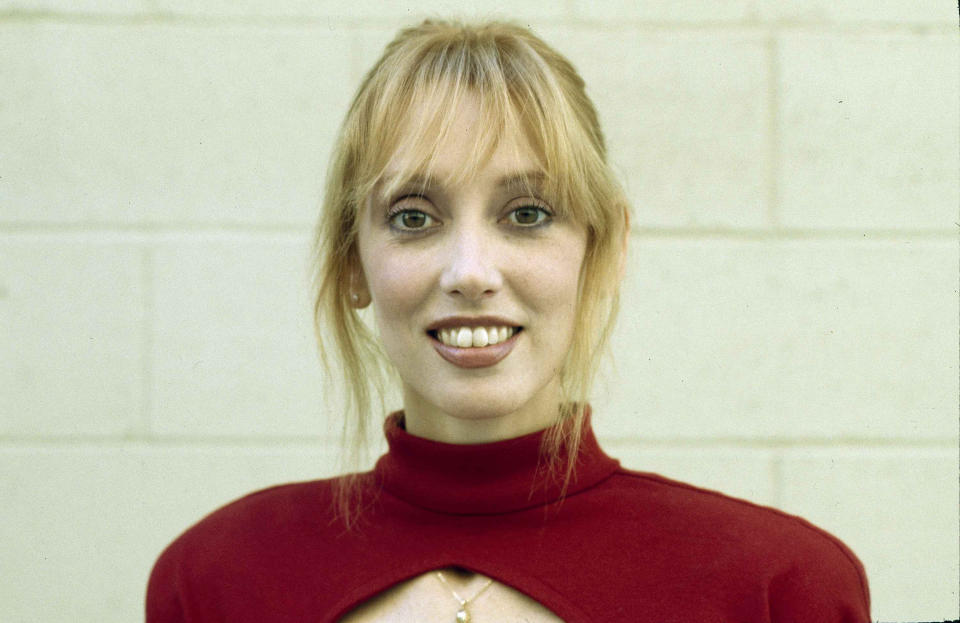 Shelley Duvall in Los Angeles, Calif., Oct. 27, 1983. (AP Photo/Doug Pizac)