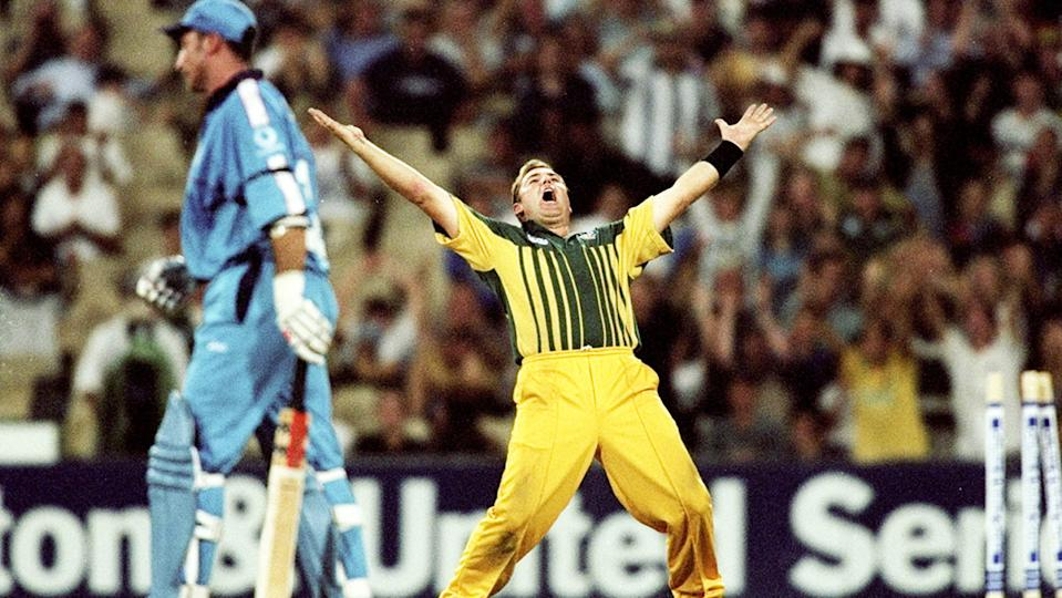 Shane Warne, pictured here celebrating after dismissing Nasser Hussain.